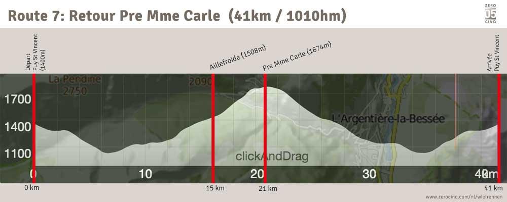 Route 7: Retour Pre Mme Carle (41km / 1010hm)